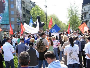 Првомајски протес НСЗ Србије 2010.