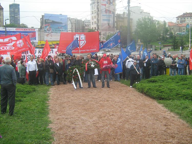 Obaveštenje o učešću NSZ Srbije na protestu 01.05.2011.