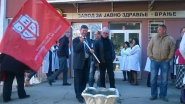 Uspeo štrajk upozorenja Novog sindikata Zavoda za javno zdravlje Vranje