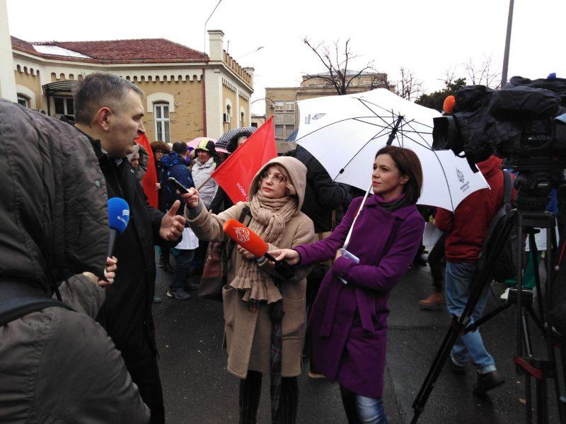 ШТРАЈК УПОЗОРЕЊА НОВОГ СИНДИКАТА КЛИНИЧКОГ ЦЕНТРА СРБИЈЕ, 24.12.2019.год.